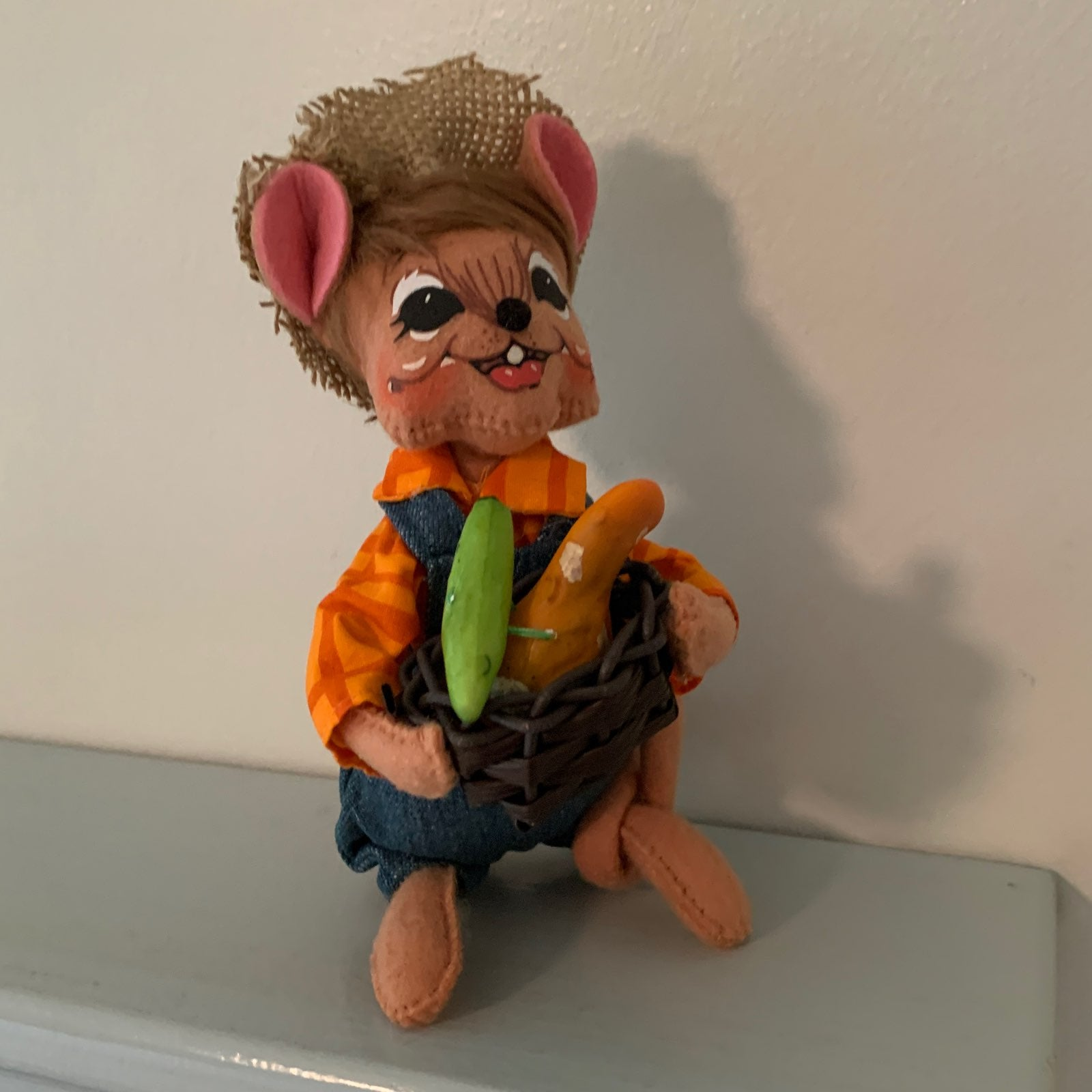 """ANNALEE COUNTRY BOY HARVEST MOUSE 6"""" NEW"""