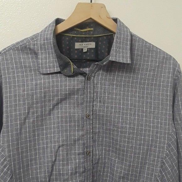 Ted Baker - Blue Plaid Long Sleeve Shirt