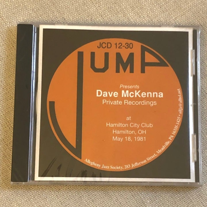 Dave McKenna Private Recordings jazz CD