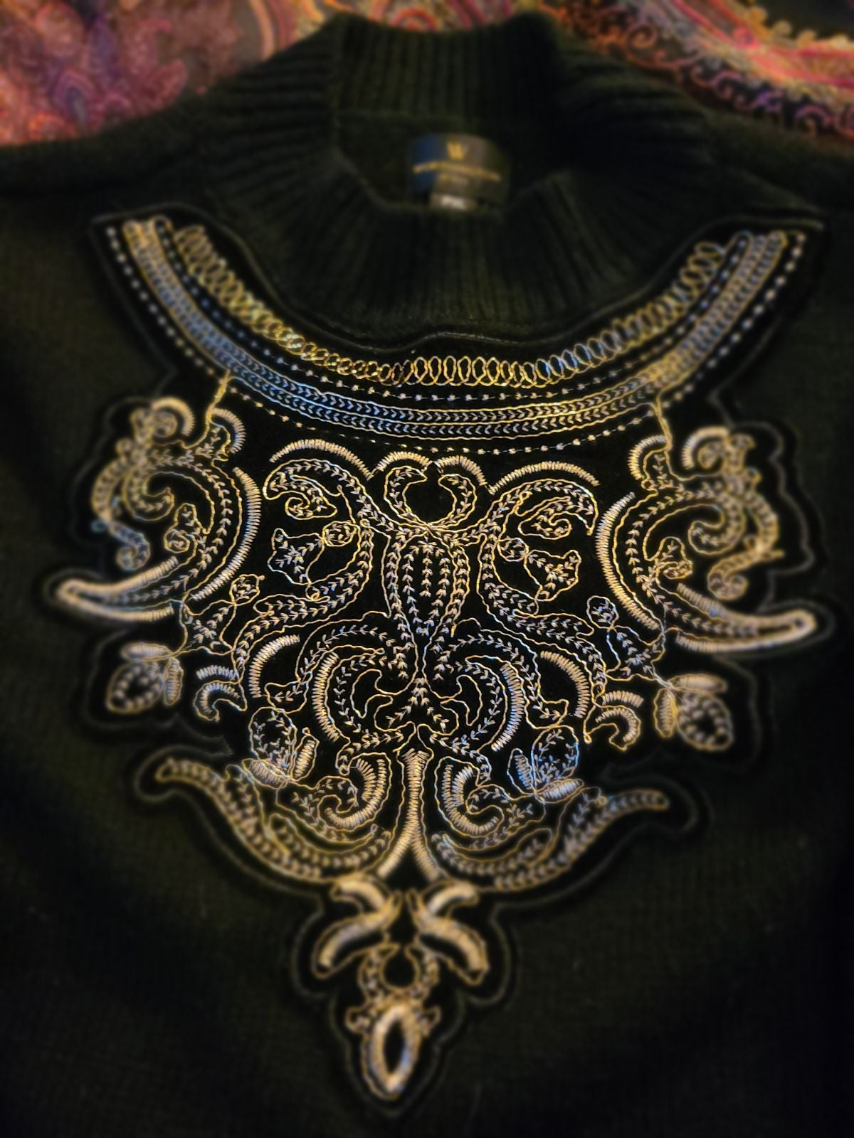 Embroidered Detail Sweater