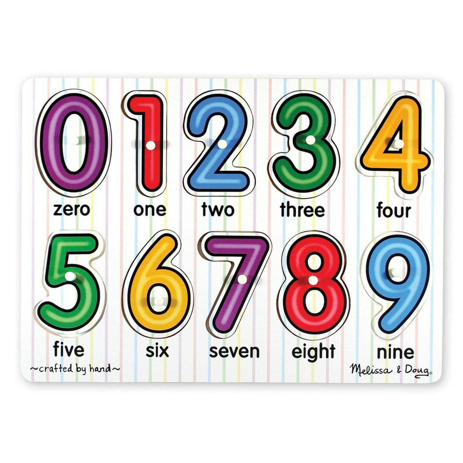 Melissa & Doug Numbers Peg Puzzle 0-9