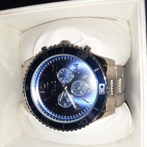 Silver Blue Polo Watch