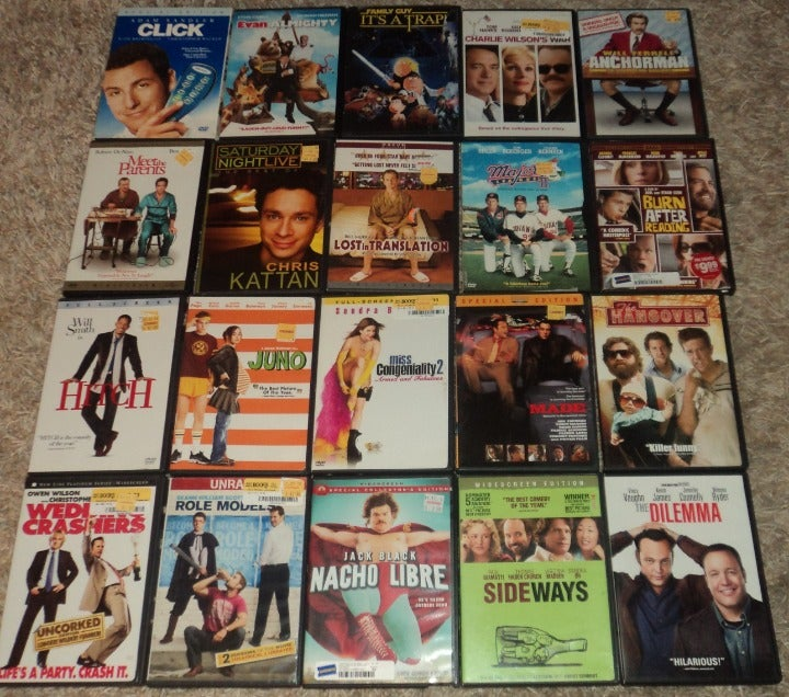 """LOT OF 20 - ASSORTED """"COMEDY"""" DVDS"""