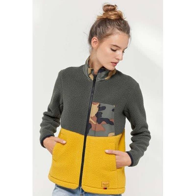 New UO Herschel Colorblock Fleece Jacket