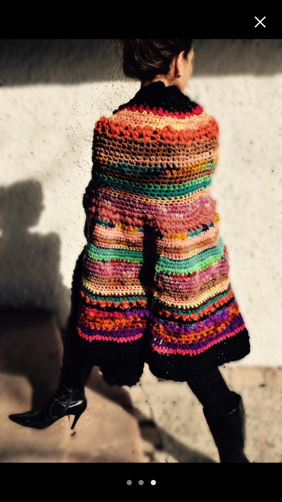 Poncho knitted