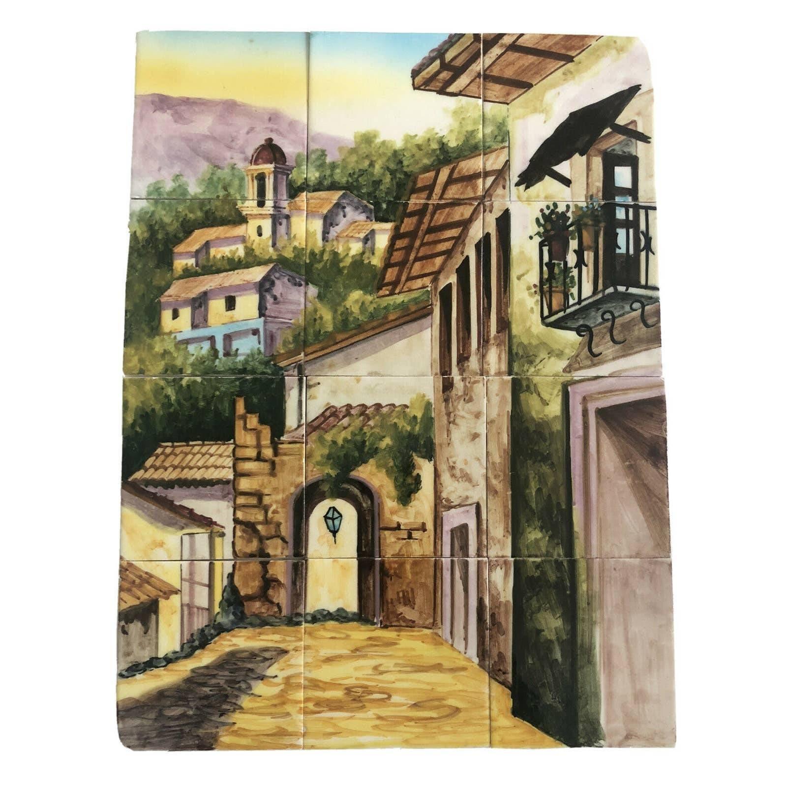 Hand painted Ceramic tiles Spanish City