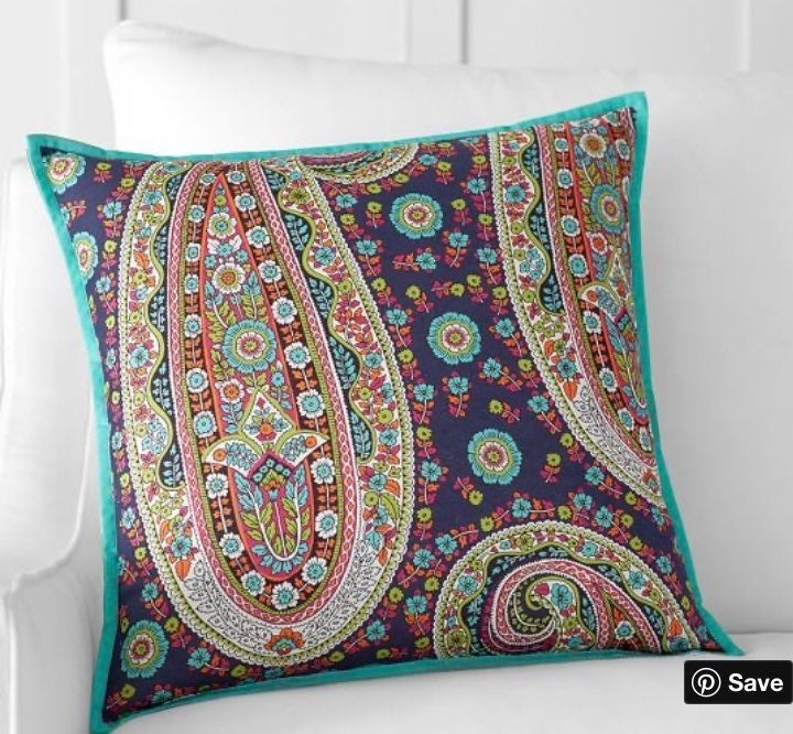"""Pottery Barn EDIE Pillow Cover Ikat 18"""""""