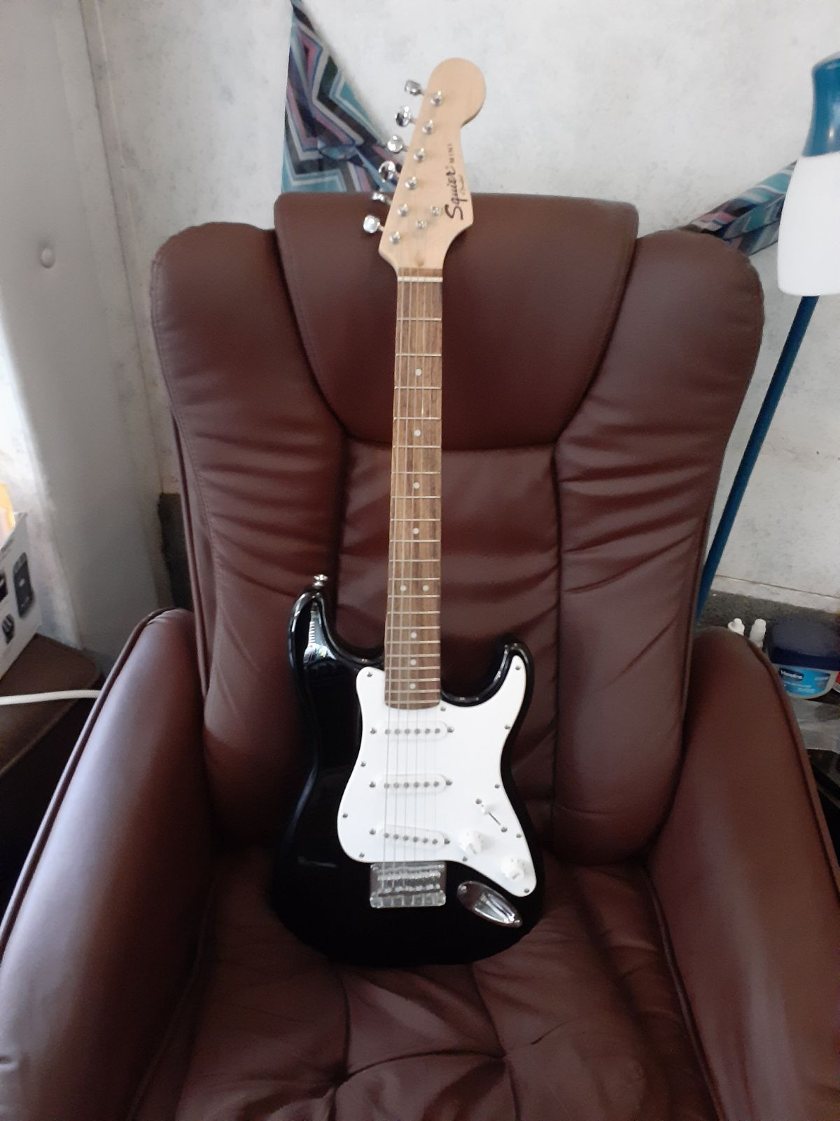 Black Fender Mini Squier Stratocaster