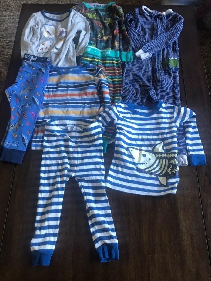Toddler 8 piece pajama lot 18-24/2t
