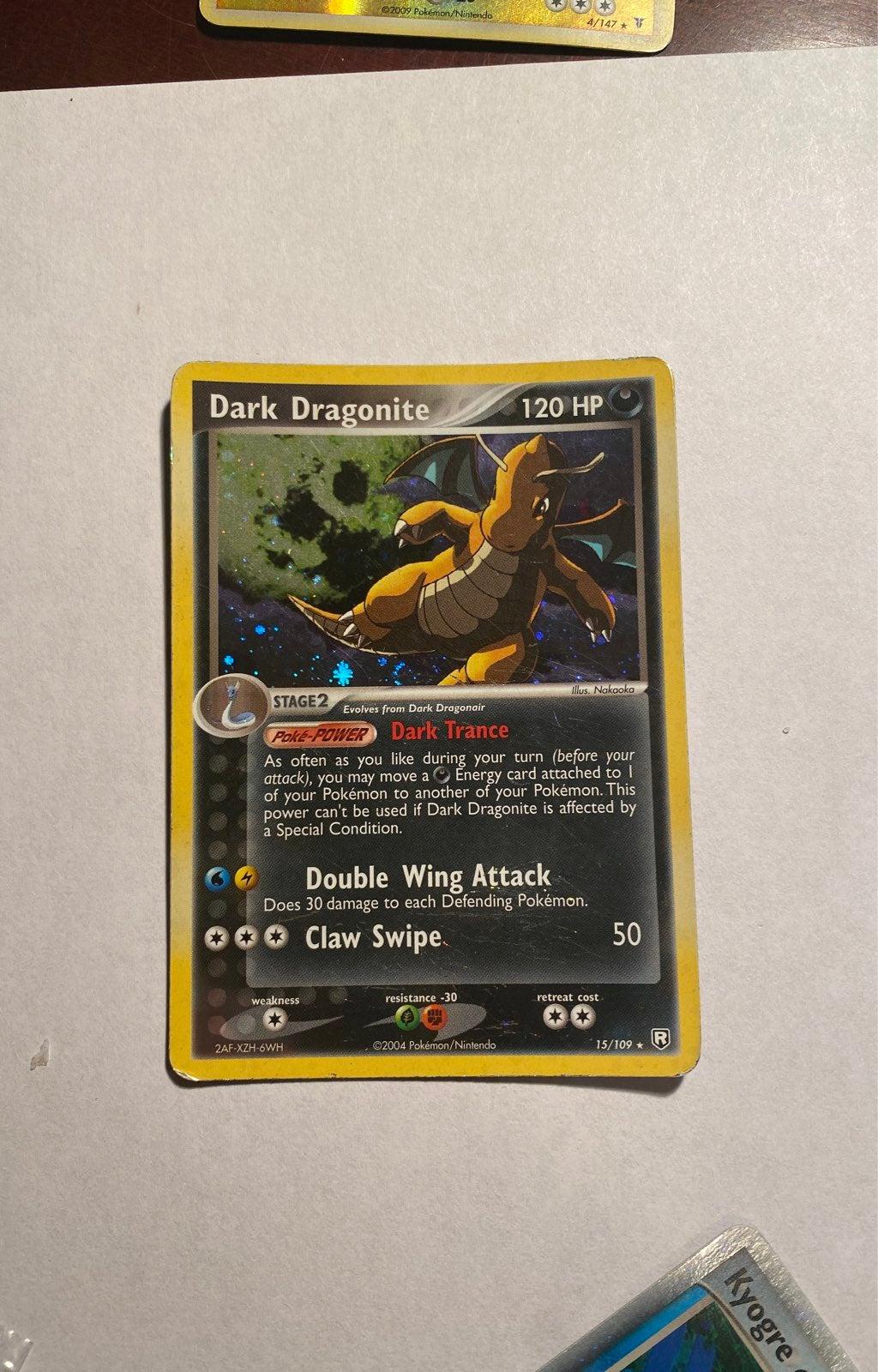 Pokemon Card Dark Dragonite