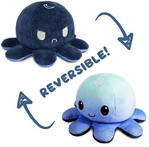 Reversible octopus octopus plush