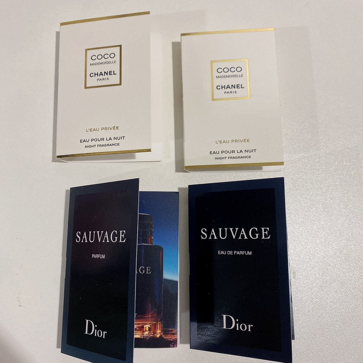 Chanel Dior perfume fragrances samples