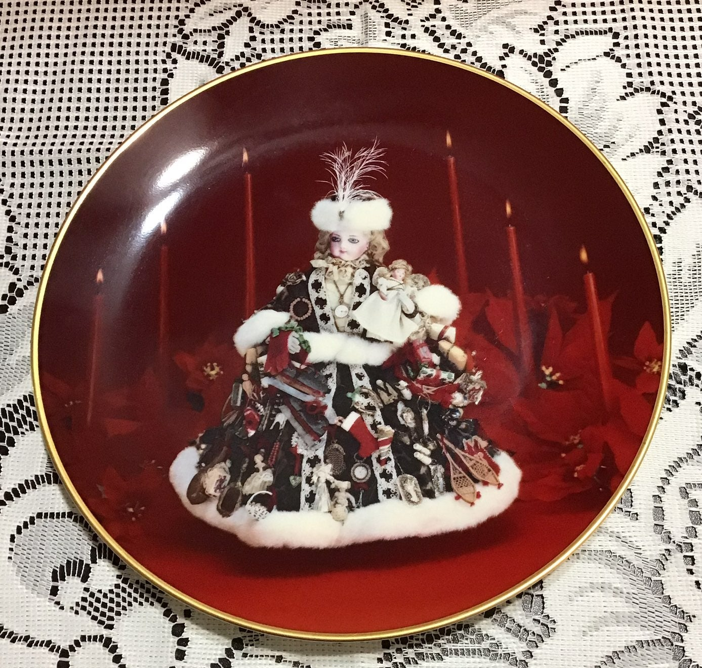 Doll Museum Christmas Plate Japan Gorham