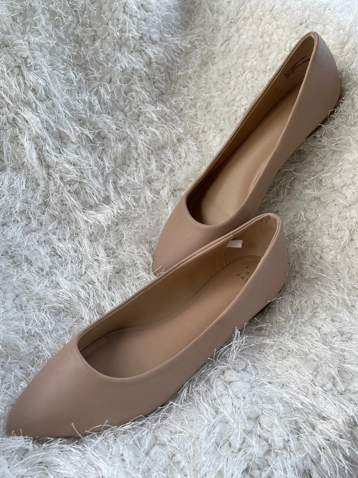 a new day Womens Mohana DOrsay Pointed Toe Ballet Flats Grey