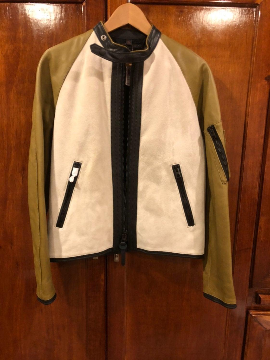 COACH Racy Zip Racer Leather Jacket