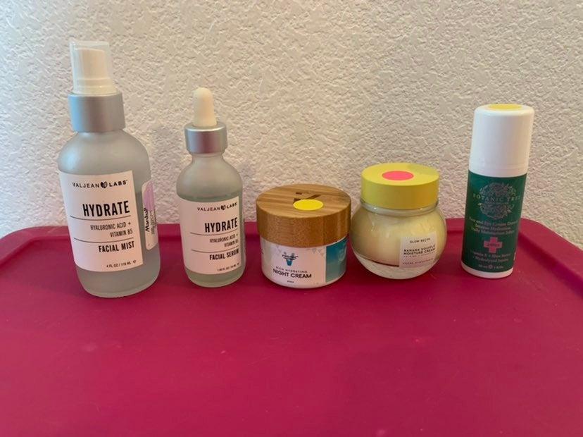 Bundle of facial serums and creams