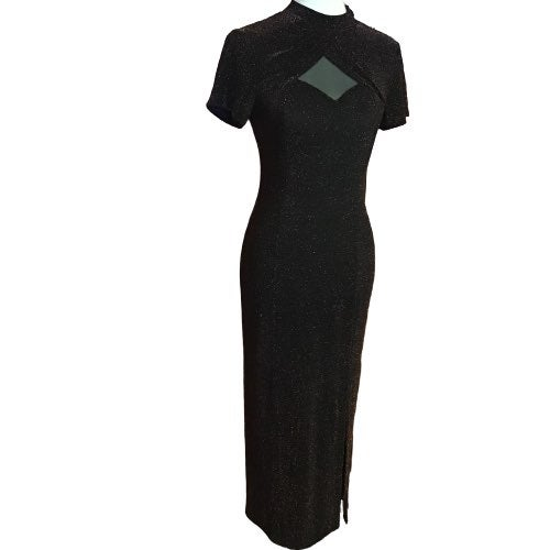 Vintage 80s bronze bodycon dress