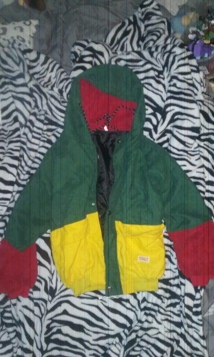 Corduroy/Color Block Jacket S