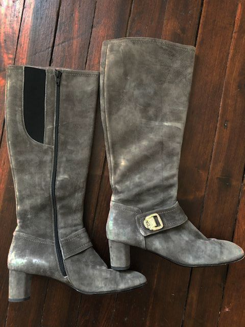 AGL Gray Suede Boots