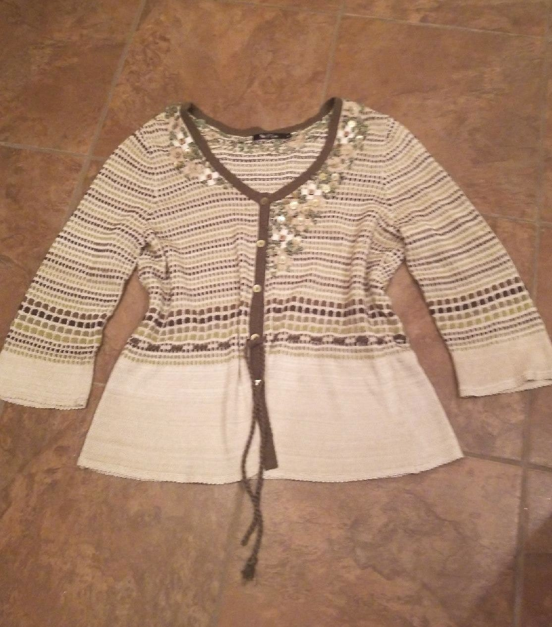 Womens clothes vintage knit top