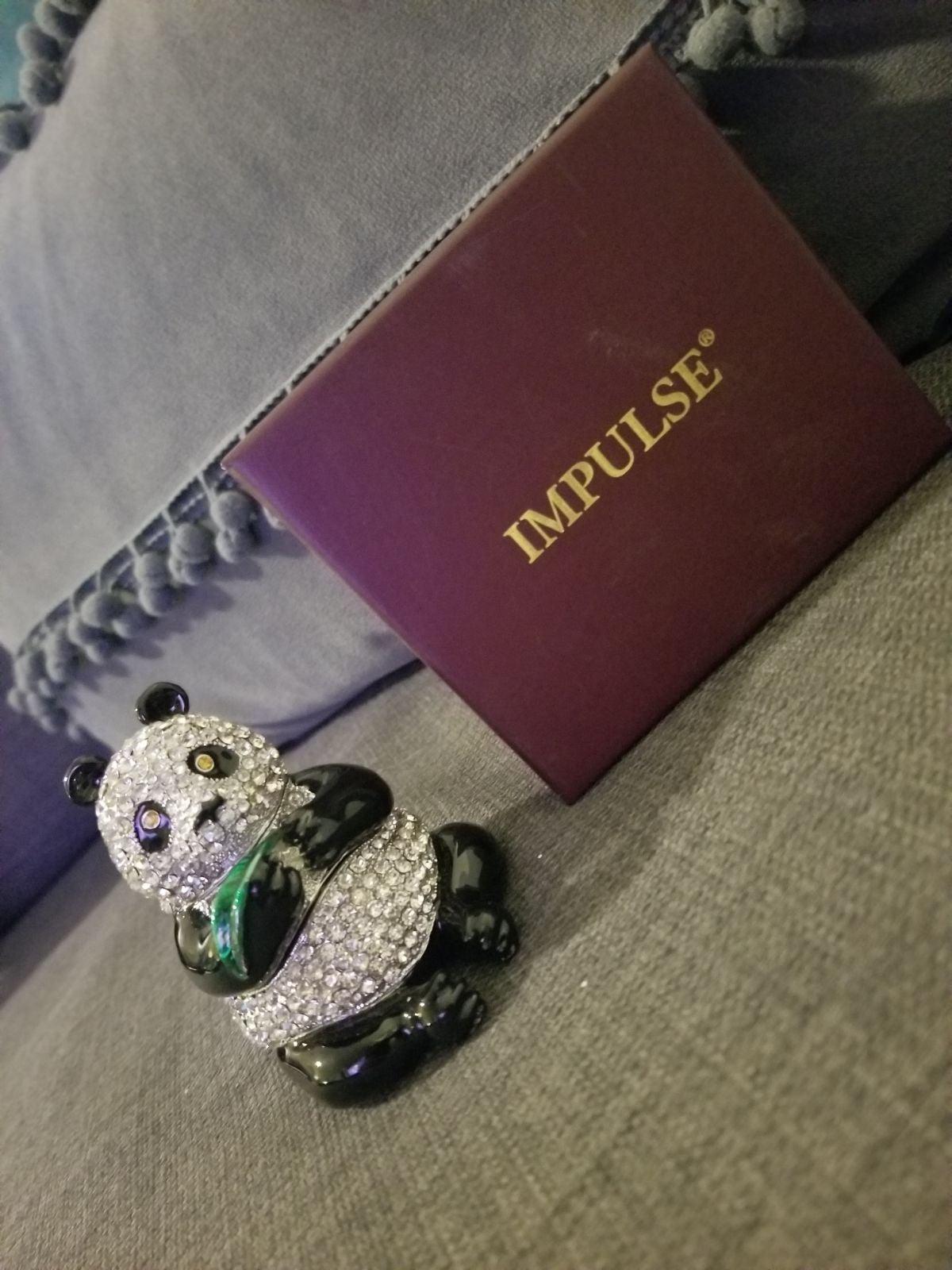 Bejeweled Enamel Hinged Panda Bear