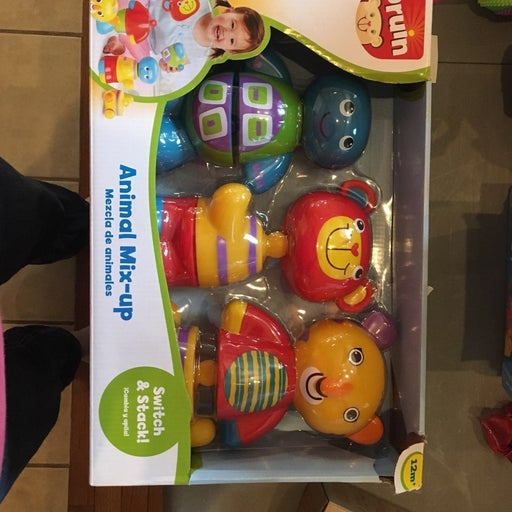 Bruin Animal Mix-up Baby Toy