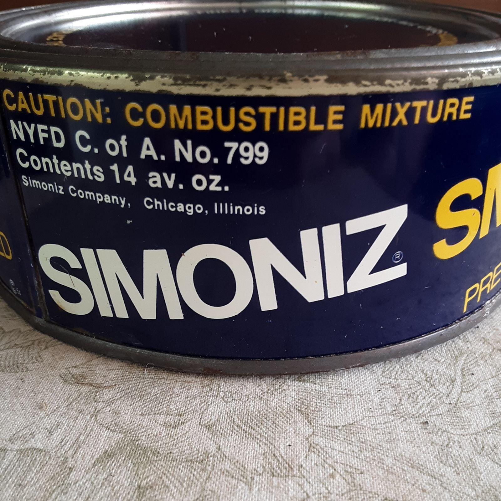 Vintage Collectible Simoniz Wax Metal Pr