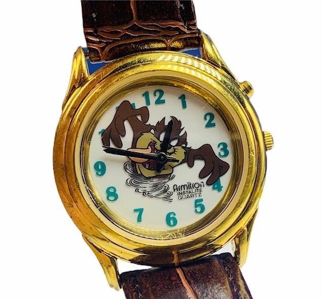 Tasmanian Devil watch Taz wristwatch vtg