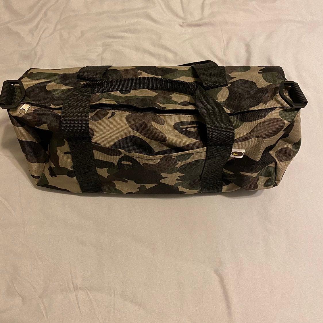 Bape GreenCamo Overnight Gym Duffle Bag