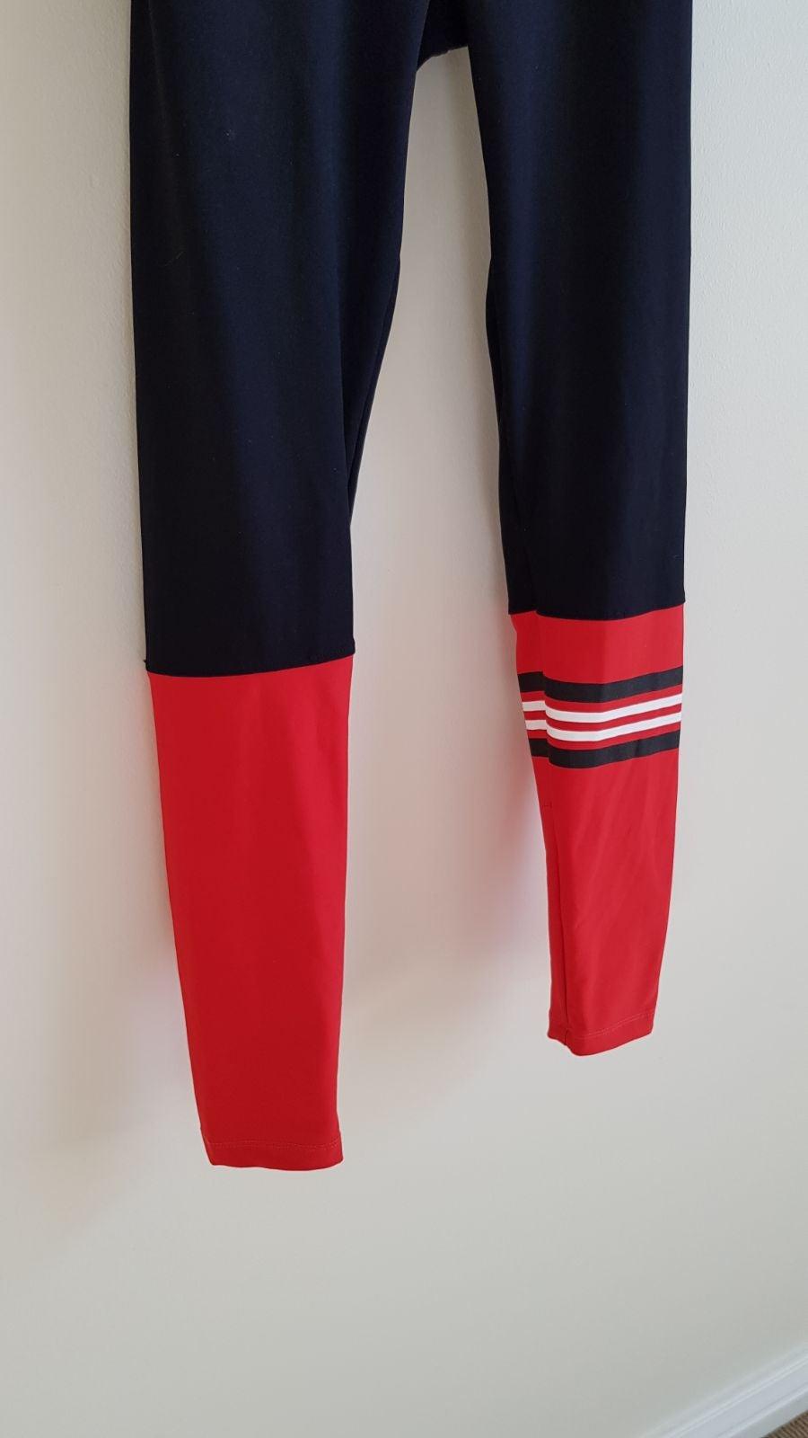 Marika Red Stripe Bombshell Sock Legging