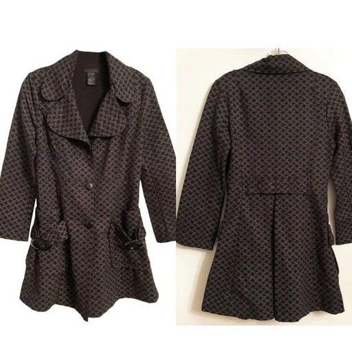 CUSTO BARCELONA Cotton Trench Coat Sz 6