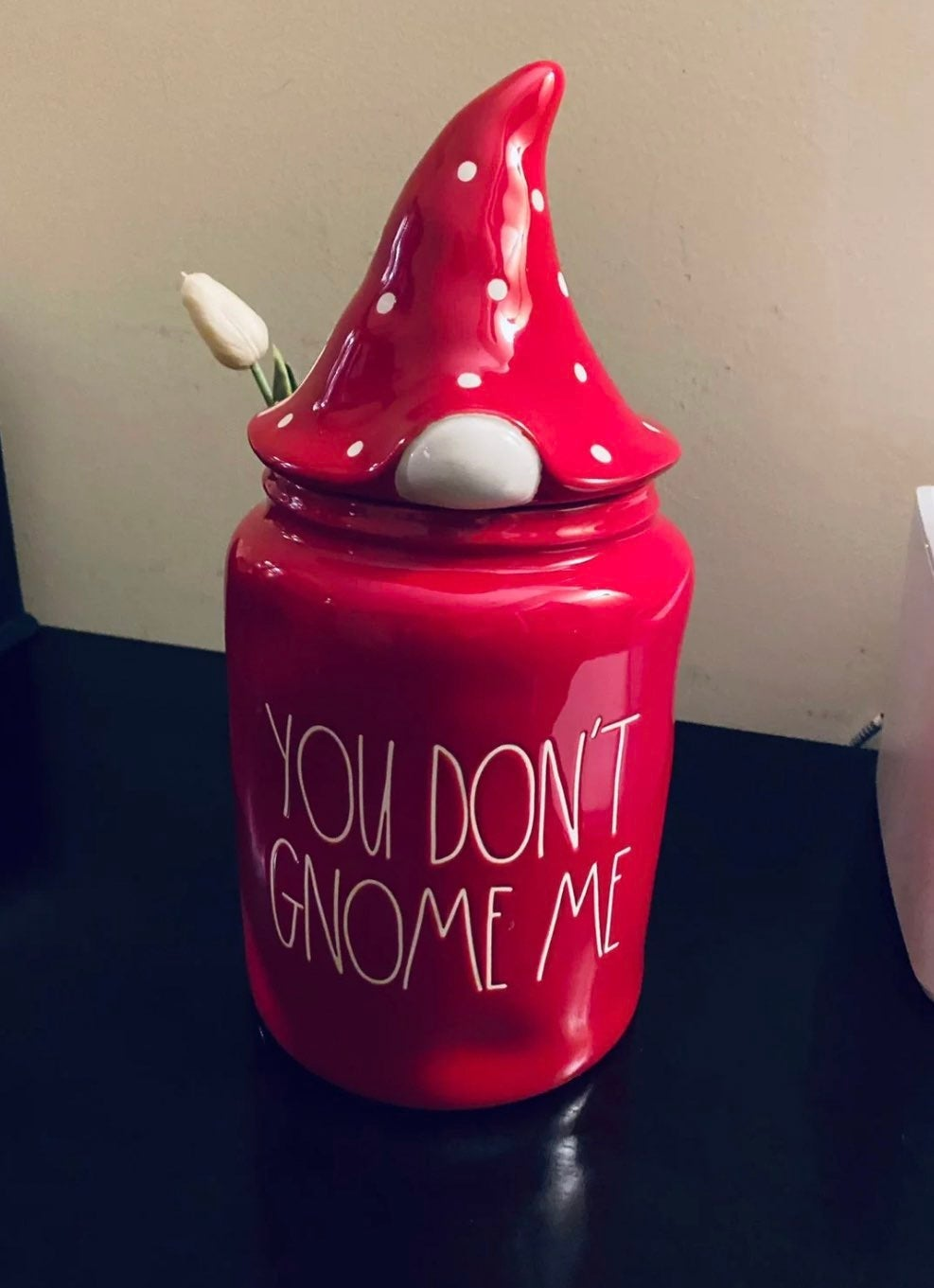 Rae Dunn You dont Gnome me canister, new