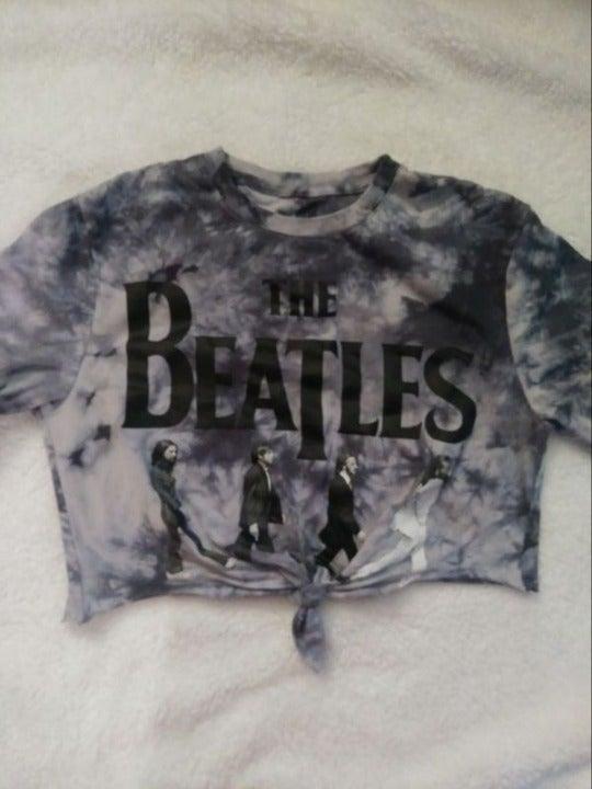 The Beatles Tie Dye Crop Top Sz Small