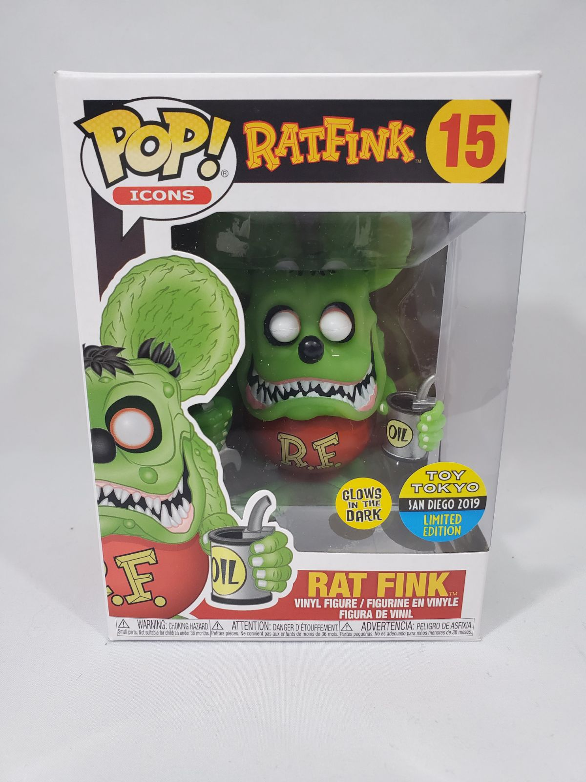 2019 SDCC Rat Fink GITD Funko Pop!