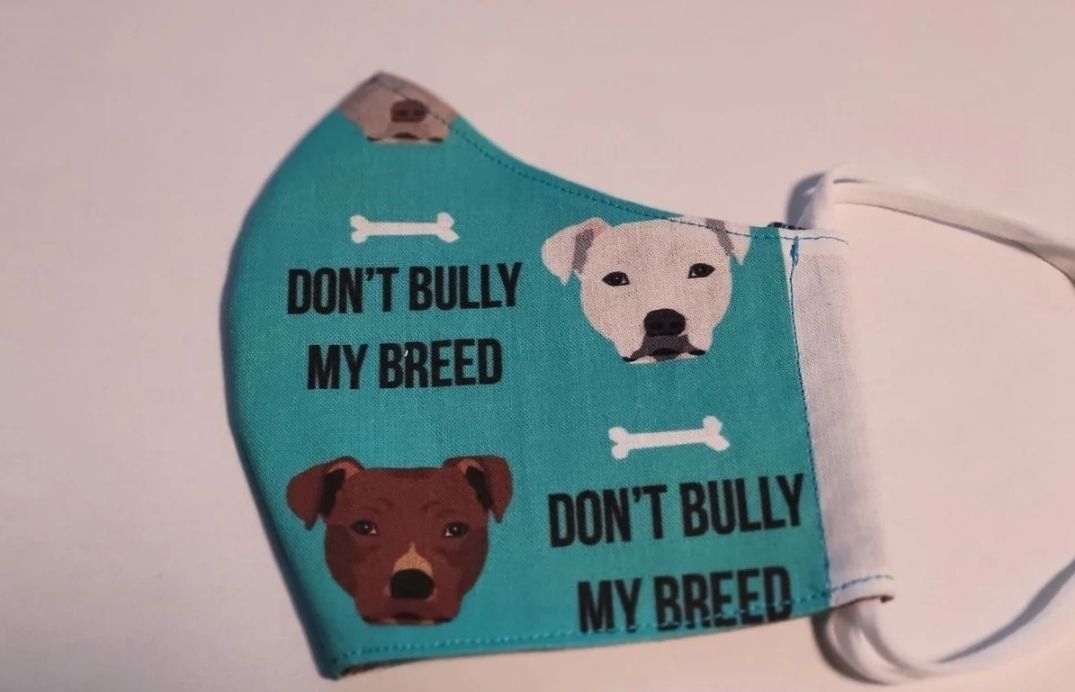 Dont bully my breed rescue pitbull, mask