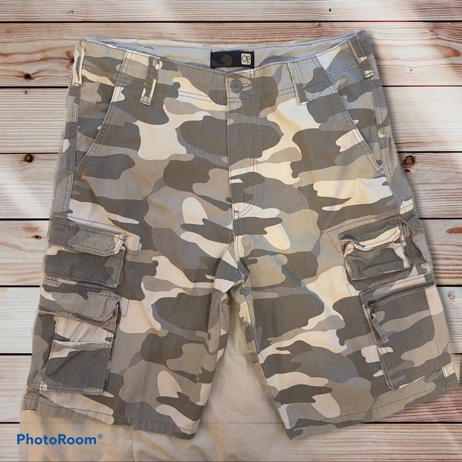 OP Grey Camouflage Utility Shorts