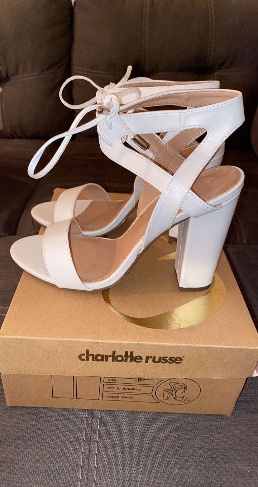 Charlotte Russe White Heels