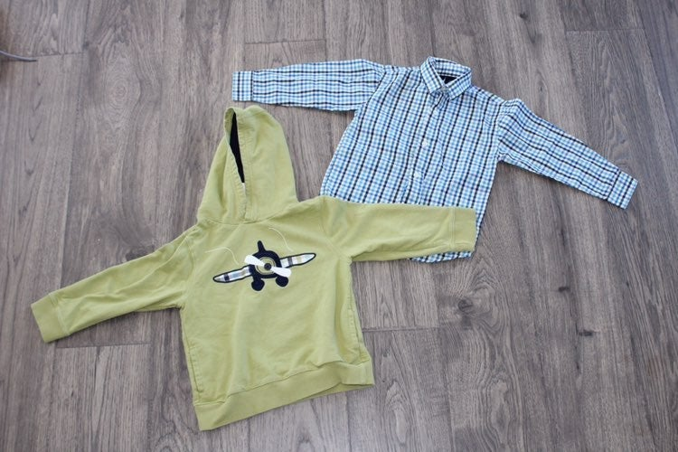 Boys size 4t hoodie and button down set