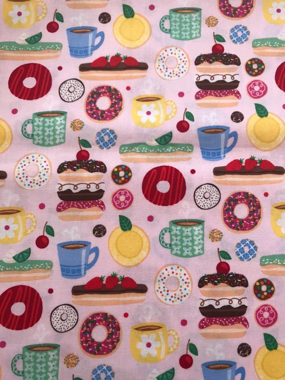 fabric coffee and donuts 1 yard