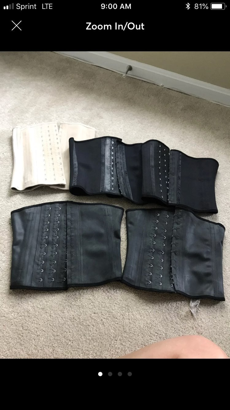Black XS and XXS squeems/ Corset