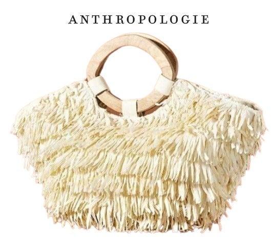 Anthropologie Rosalita Fringed Tote Bag