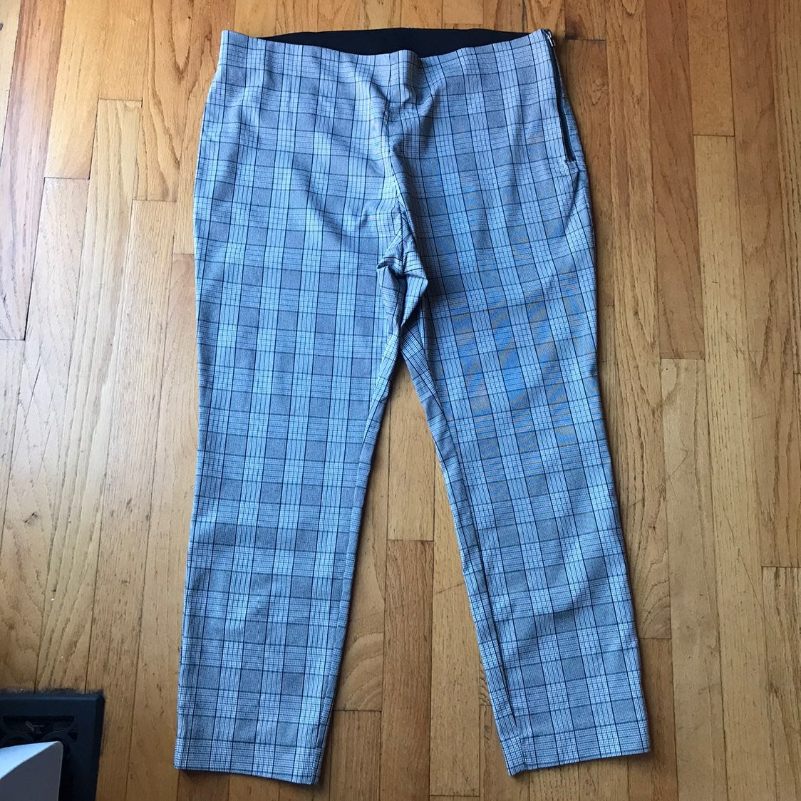 A New Day Black Plaid Ankle Pants 16