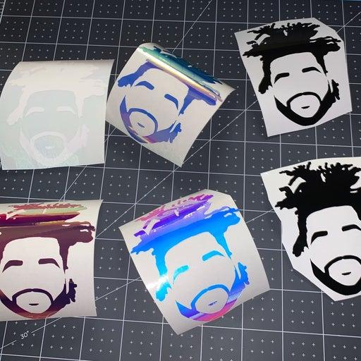 The Weeknd vinyl decal sticker