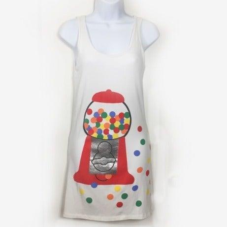 Bubble Gum Bodycon Tank Dress Kawaii emo