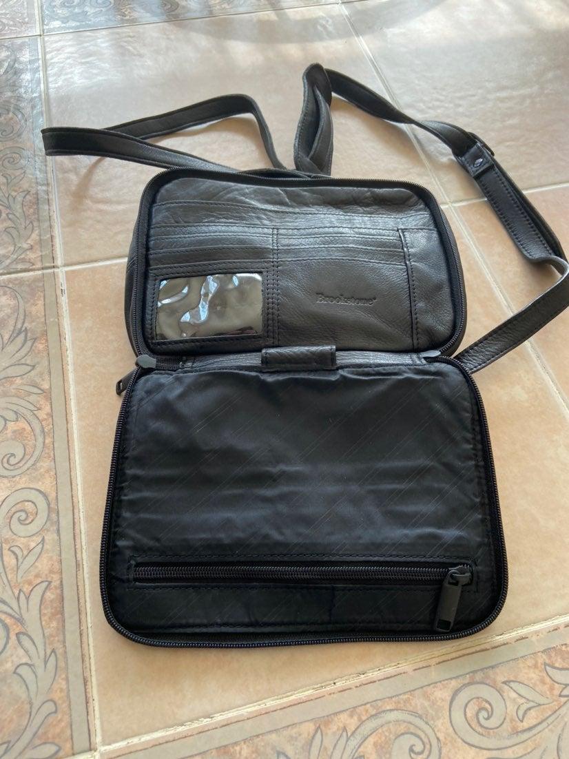 Brookstone Leather Gadget Bag