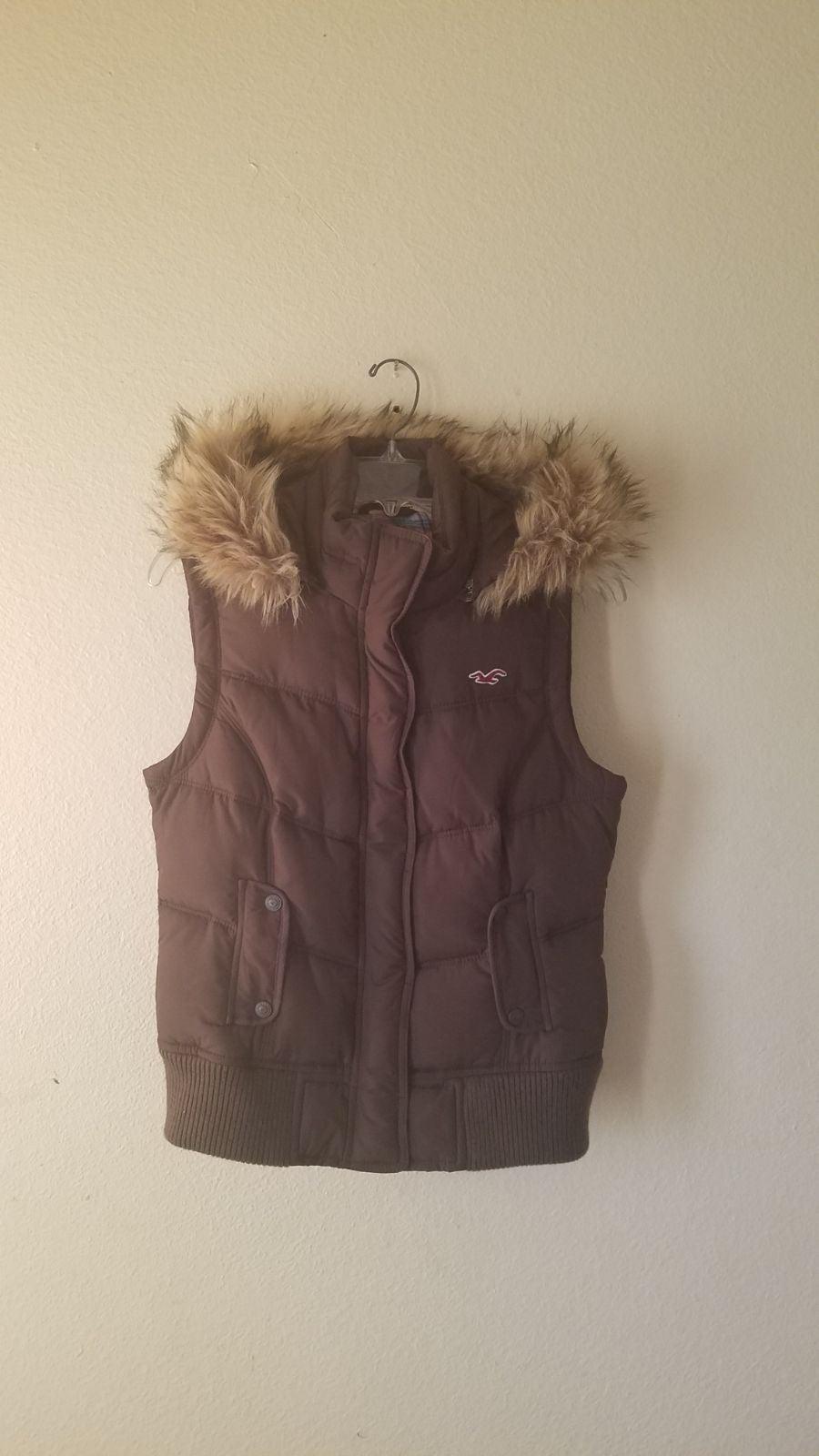 Hollister Puffer Vest Jacket Junior L