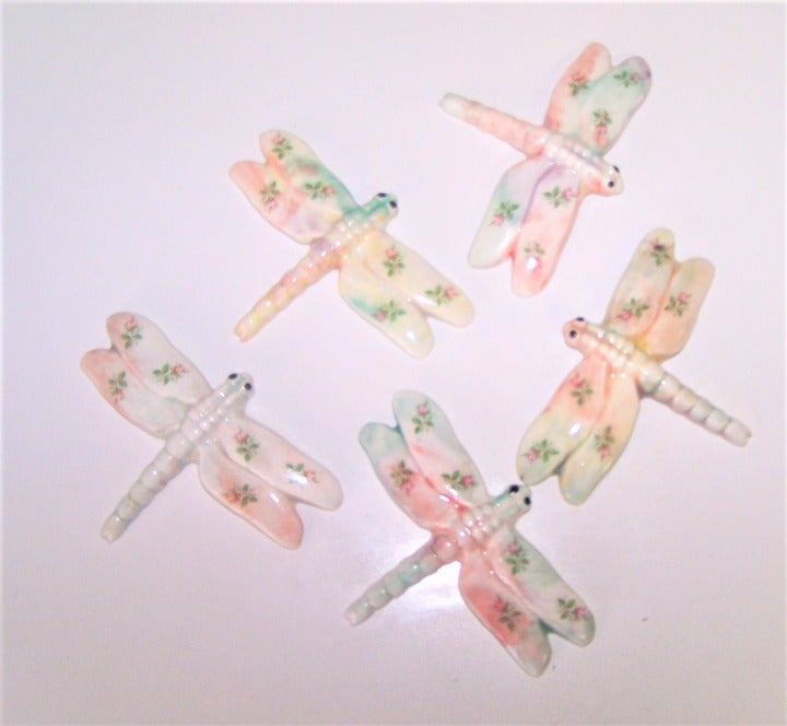 Dragonfly Mosaic Tiles 5-Pc Chic A2