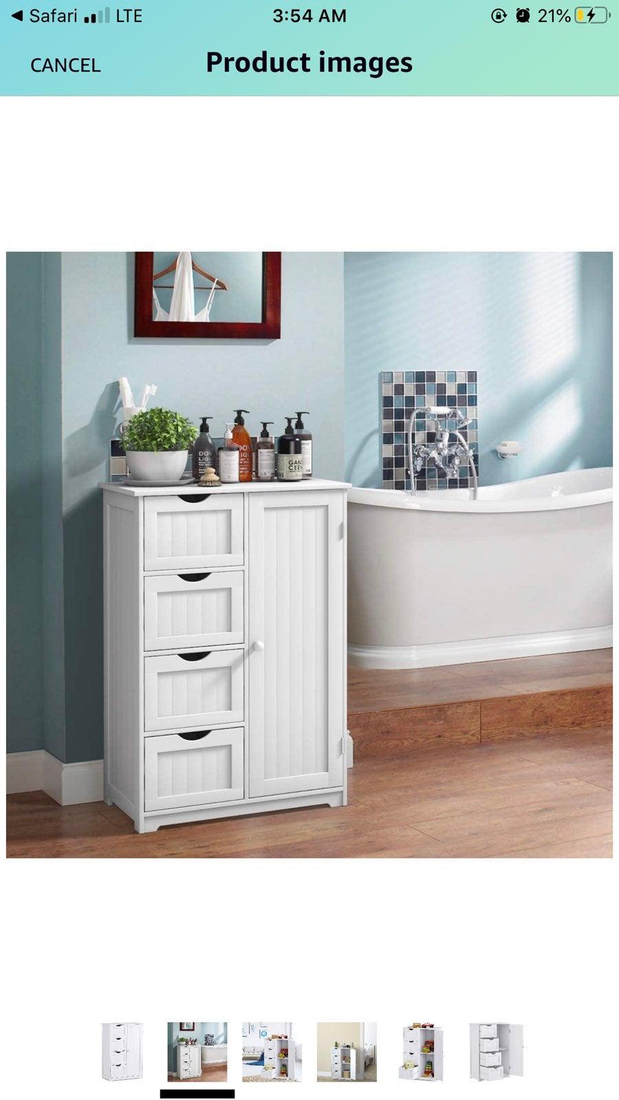 Bathroom Floor Cabinet Wooden