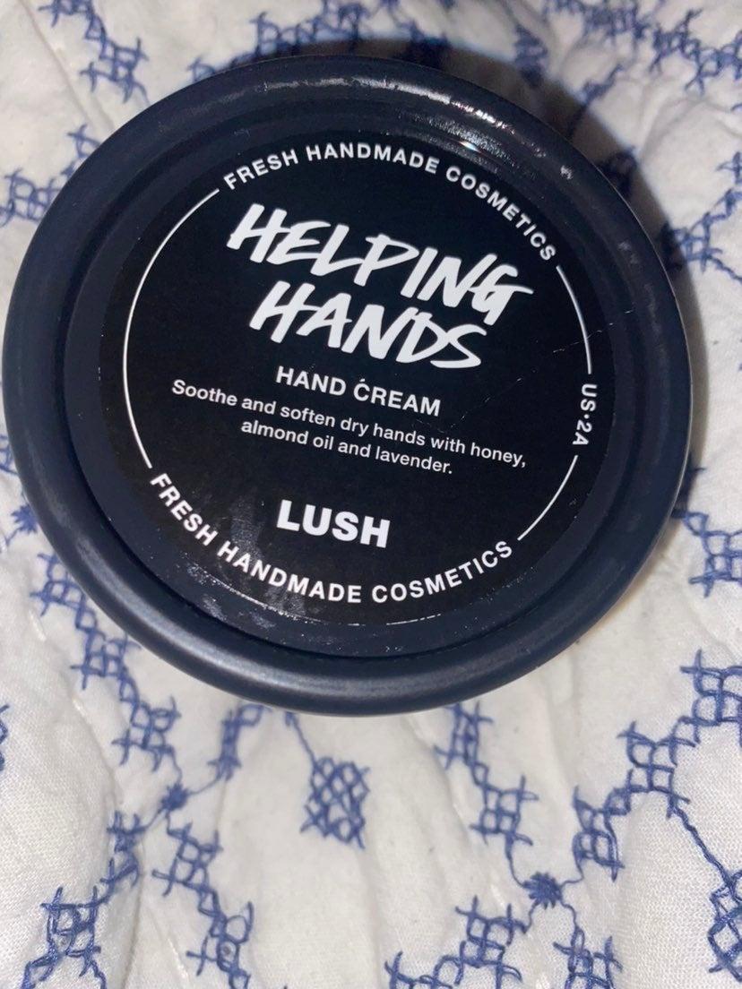 Lush helping hands hand cream