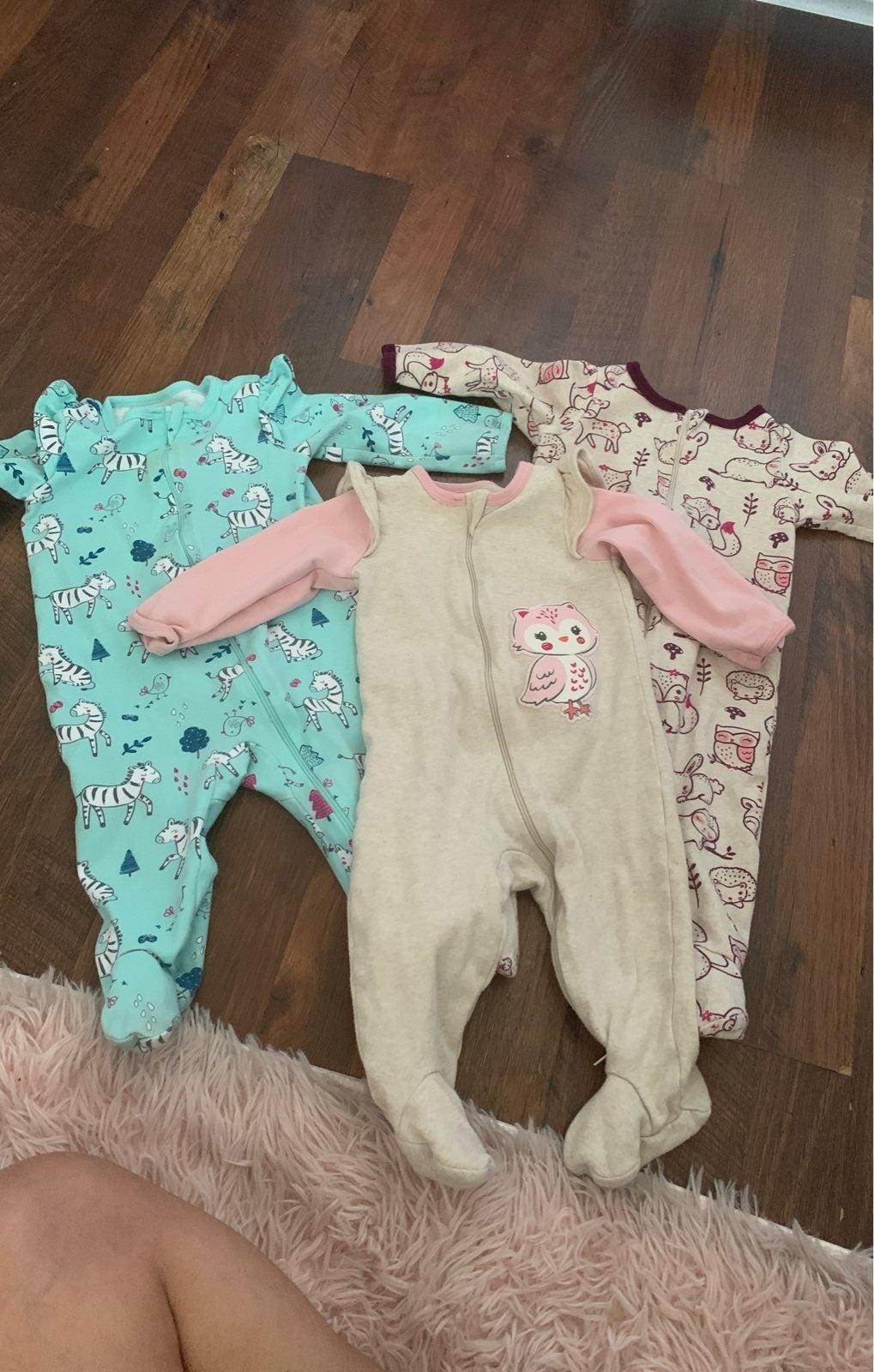 3 Baby onesies